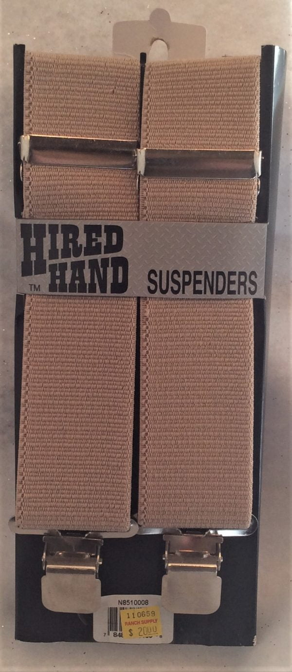 Hired Hand Suspenders Tan