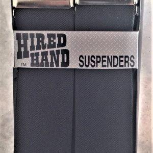 Hired Hand Suspenders Black