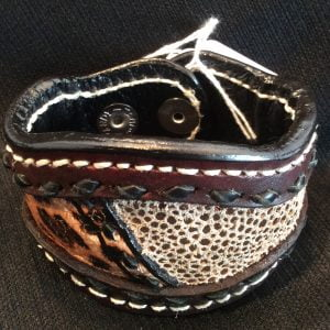 Handmade Leather Bracelet Shiny