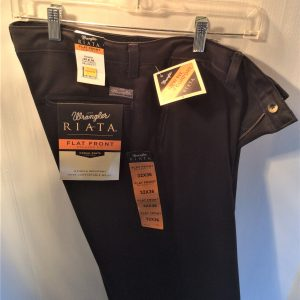 Wrangler Flat Front Casual Pants Black