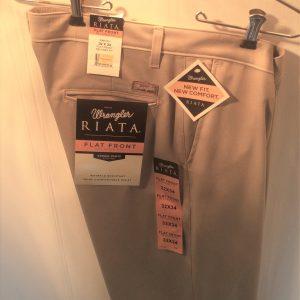 Wrangler Flat Front Casual Pants Tan