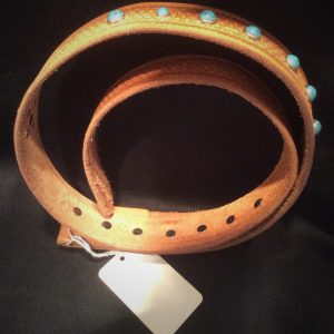 Leather Belt with Stones