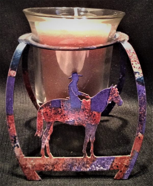Horseman Candle Holder with candle