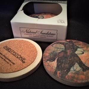 Natural Solid Sandstone Coasters