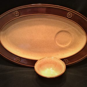Brown and Tan Platter Set