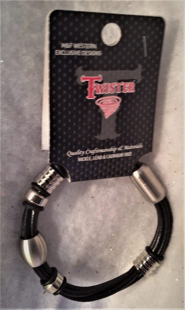 Black Multi-strand Twister Bracelet