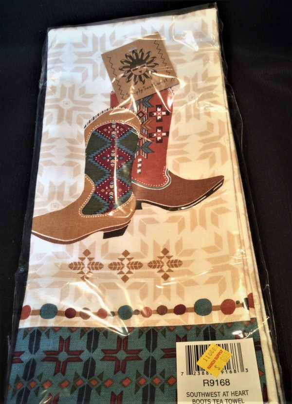 Southwest Boots Tea Towel