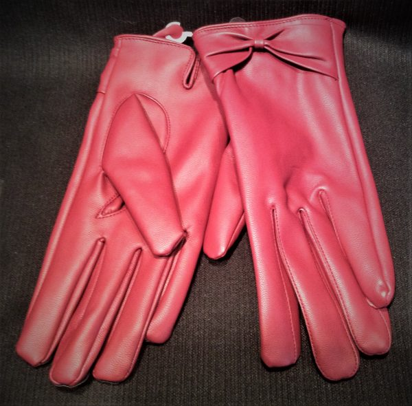 :adoes Red Vinyl Gloves Adult