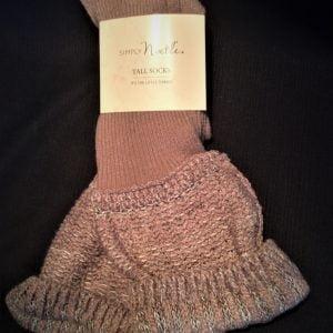 Simply Noelle Tall Socks Truffle