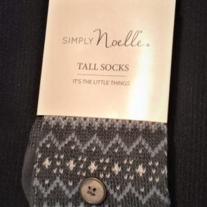 Simply Noelle Tall Socks Gray