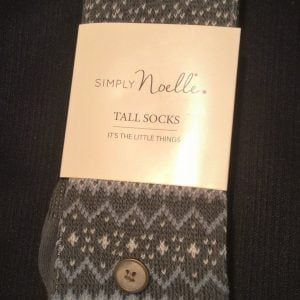 Simply Noelle Tall Socks Green