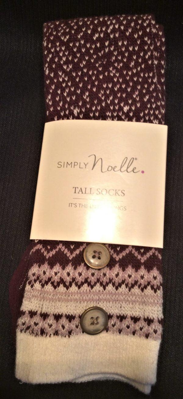 Simply Noelle Tall Socks Eggplant