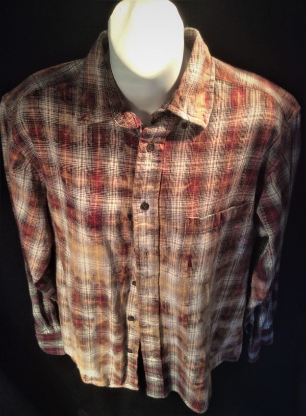 Bohemian Cowgirl Brown Mix Flannel Shirt